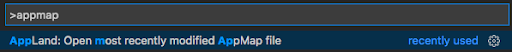 Open most recently modified AppMap